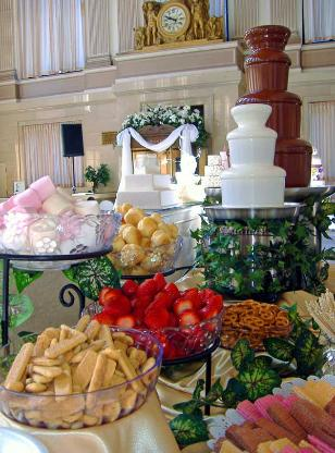 Chocolate Fountain at Wedding Reception